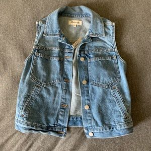 Madewell The Pocket Jean Vest with tags!